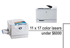 compare 11 x 17 color lasers under $6000